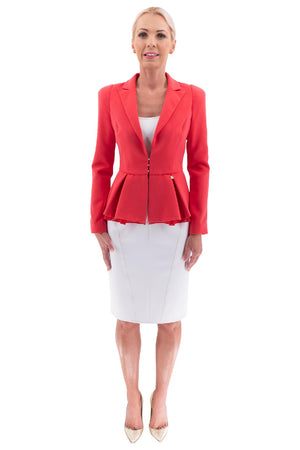Red Short Flared Jacket