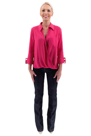 Barbie Pink Asymmetrical Blouse