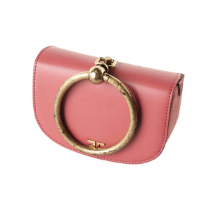 Chili Vegan Leather Small Bag with a Ring