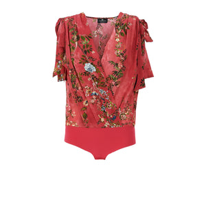 Raspberry Ramage Floral Print Body Shirt