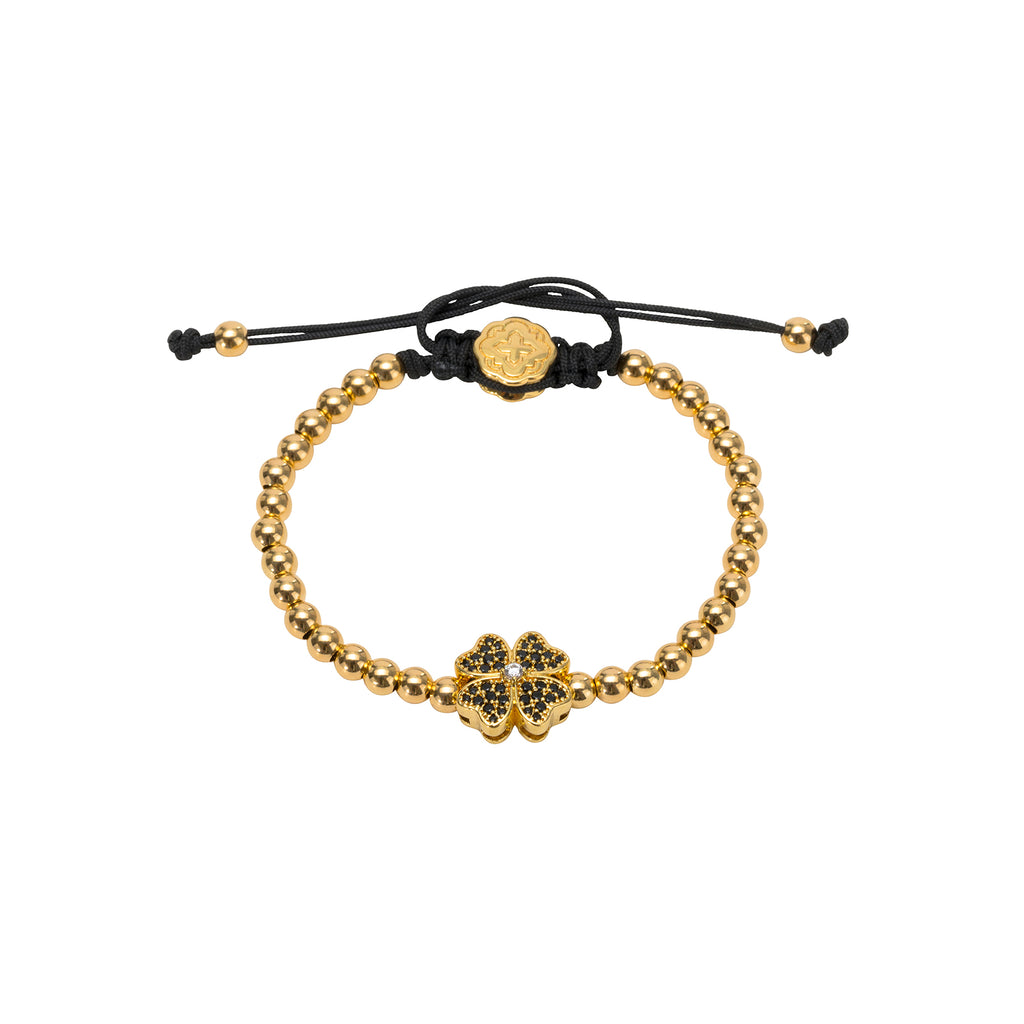 Gold Four Leaf Clover Bracelet