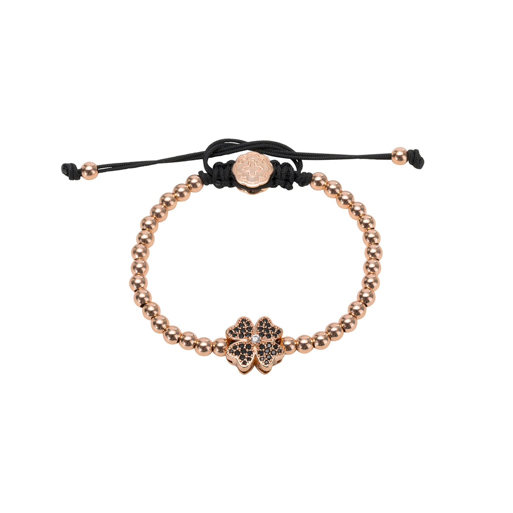 Rose Gold Four Leaf Clover Bracelet
