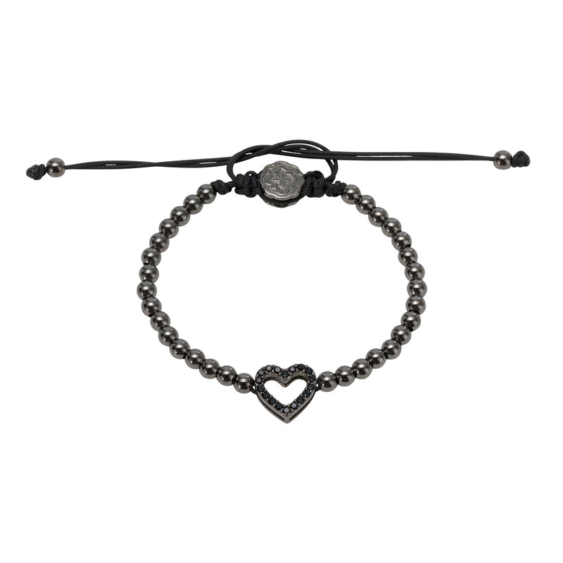 Ruthenium Heart Bracelet