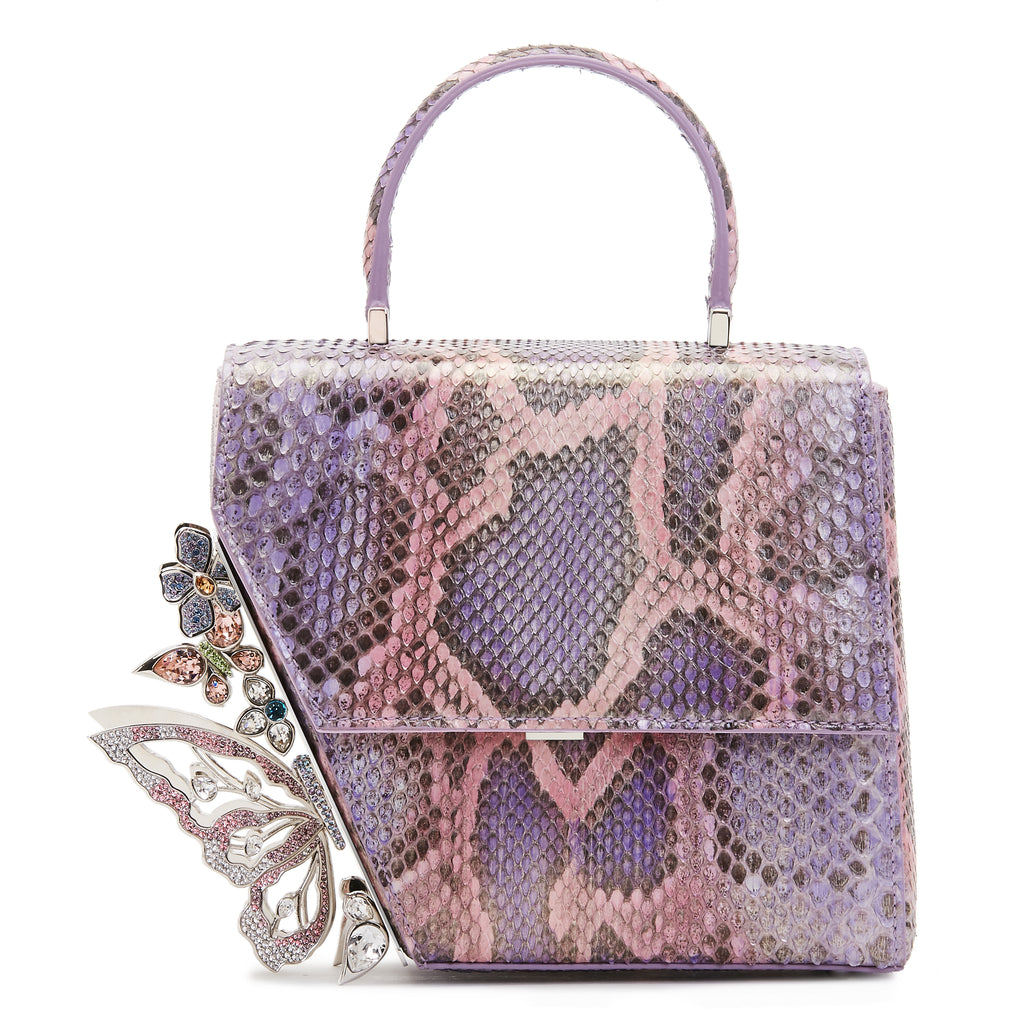 Purple Wisteria Garden Crystal Butterflies Claudia bag
