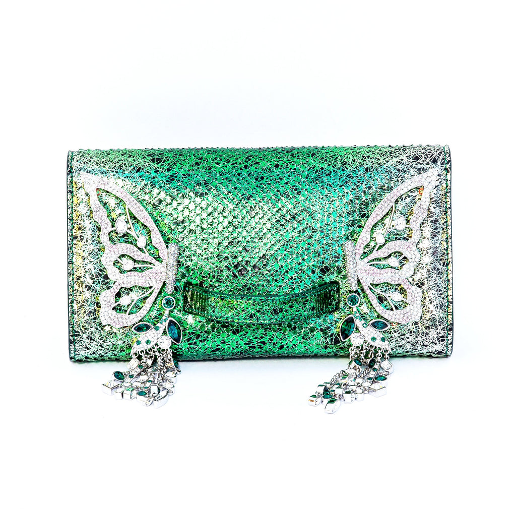 Emerald green Josephine clutch