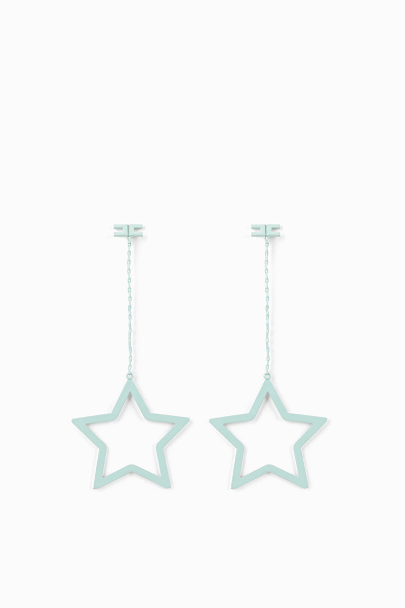 Aquamarine Pendant Earrings with Star
