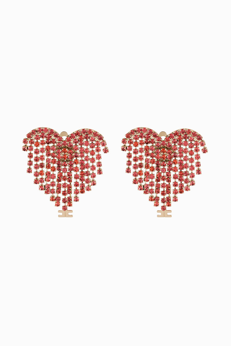 Peony Pink Heart Shaped Earrings