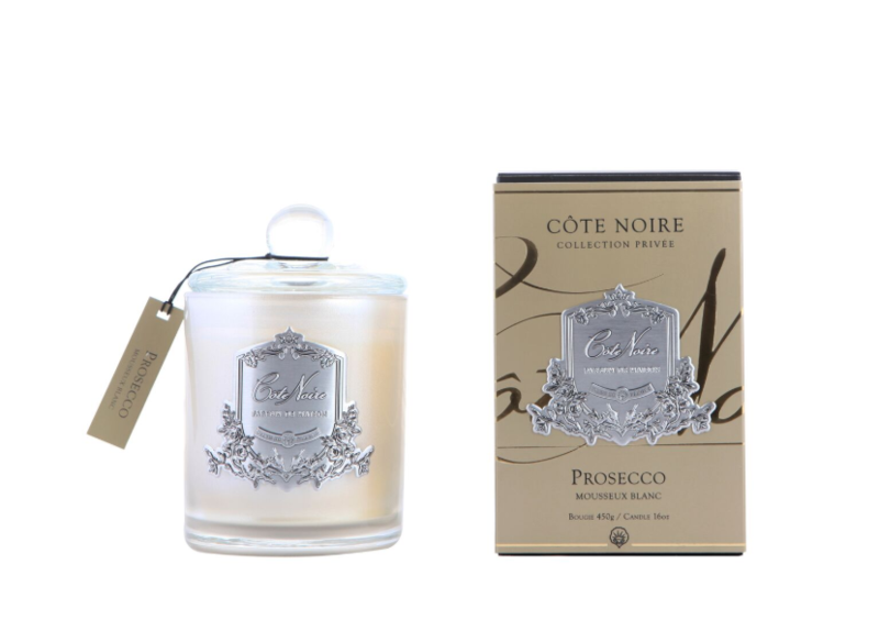 Silver Prosecco 100 hrs Ecowax Luxury Candle