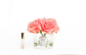 Peach French Rose Real Touch Flower Diffuser