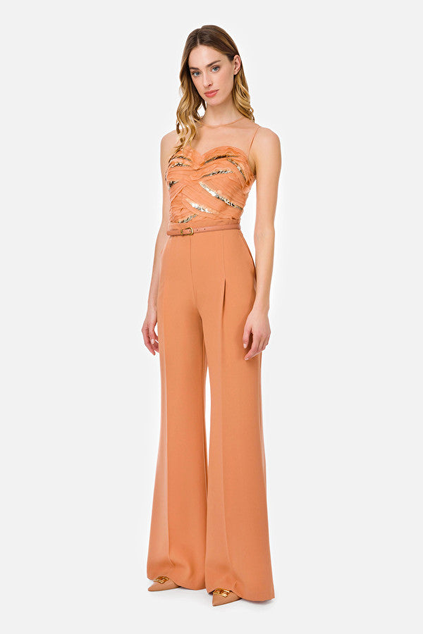 Rose gold sequined Jumpsuit