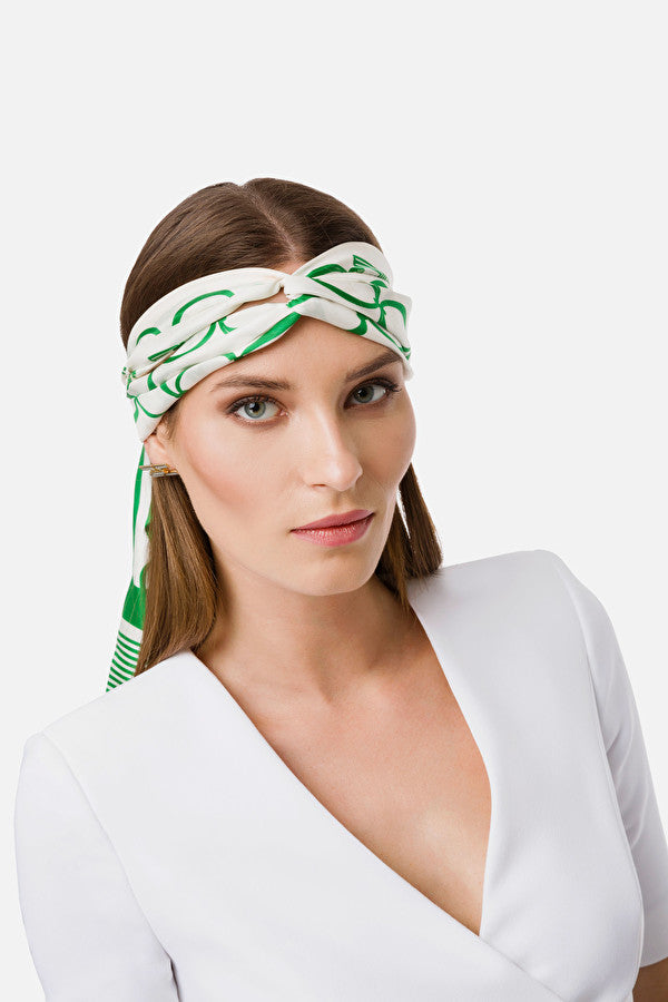 Ivory Green Hair Band