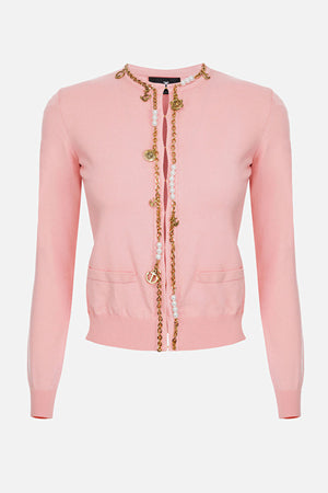 Pink Sweater Jacket with Charms