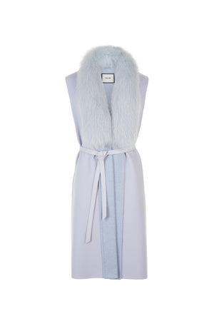 Powder Long Sleeveless Jacket