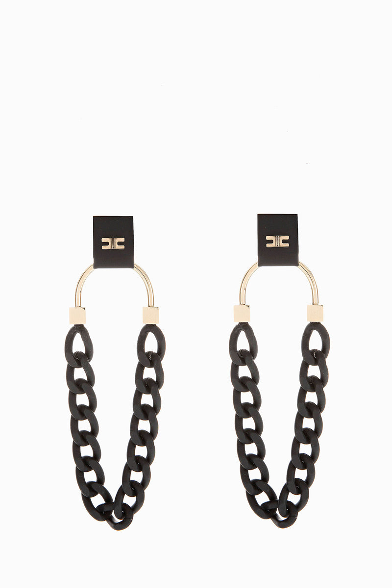Black Chain Earrings