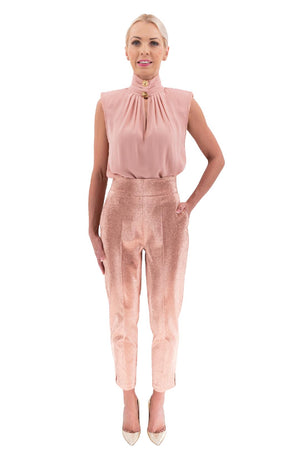 Rose High Waisted Cigarette Pants