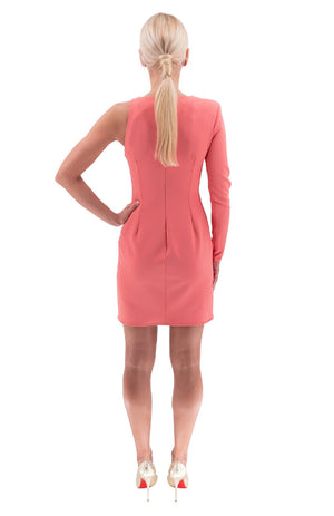 Peony Pink One Shoulder dress