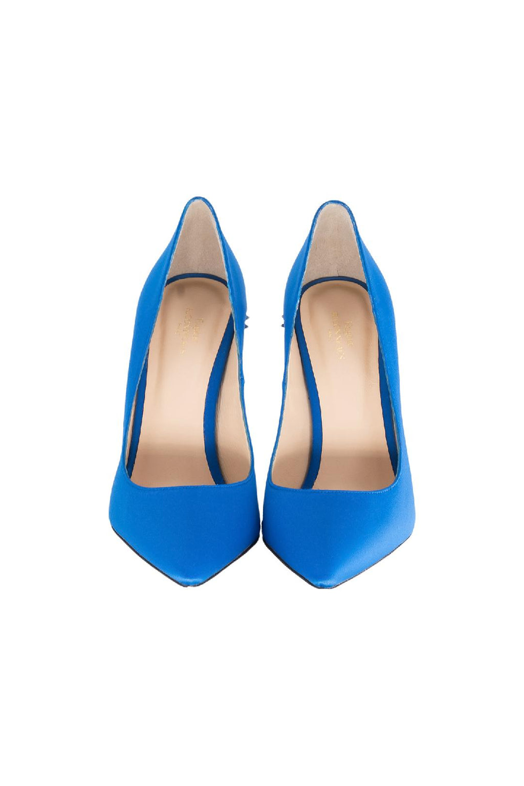 Royal Blue Satin Crown Pump