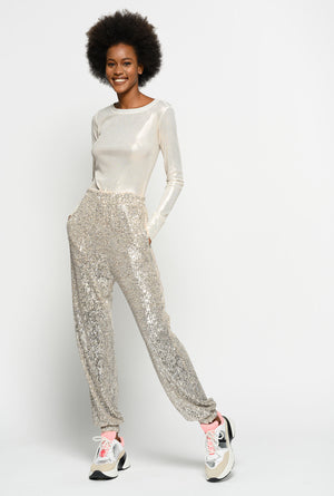 Platinum Full Sequinned  Jogger Pants