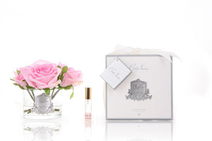 Pink five roses real touch flower diffuser