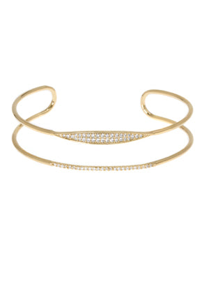 Gold spear motif adjustable Bracelet