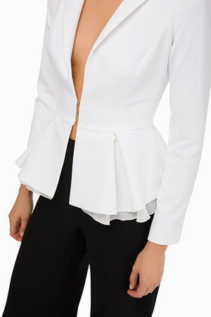 Ivory Short Flared Jacket