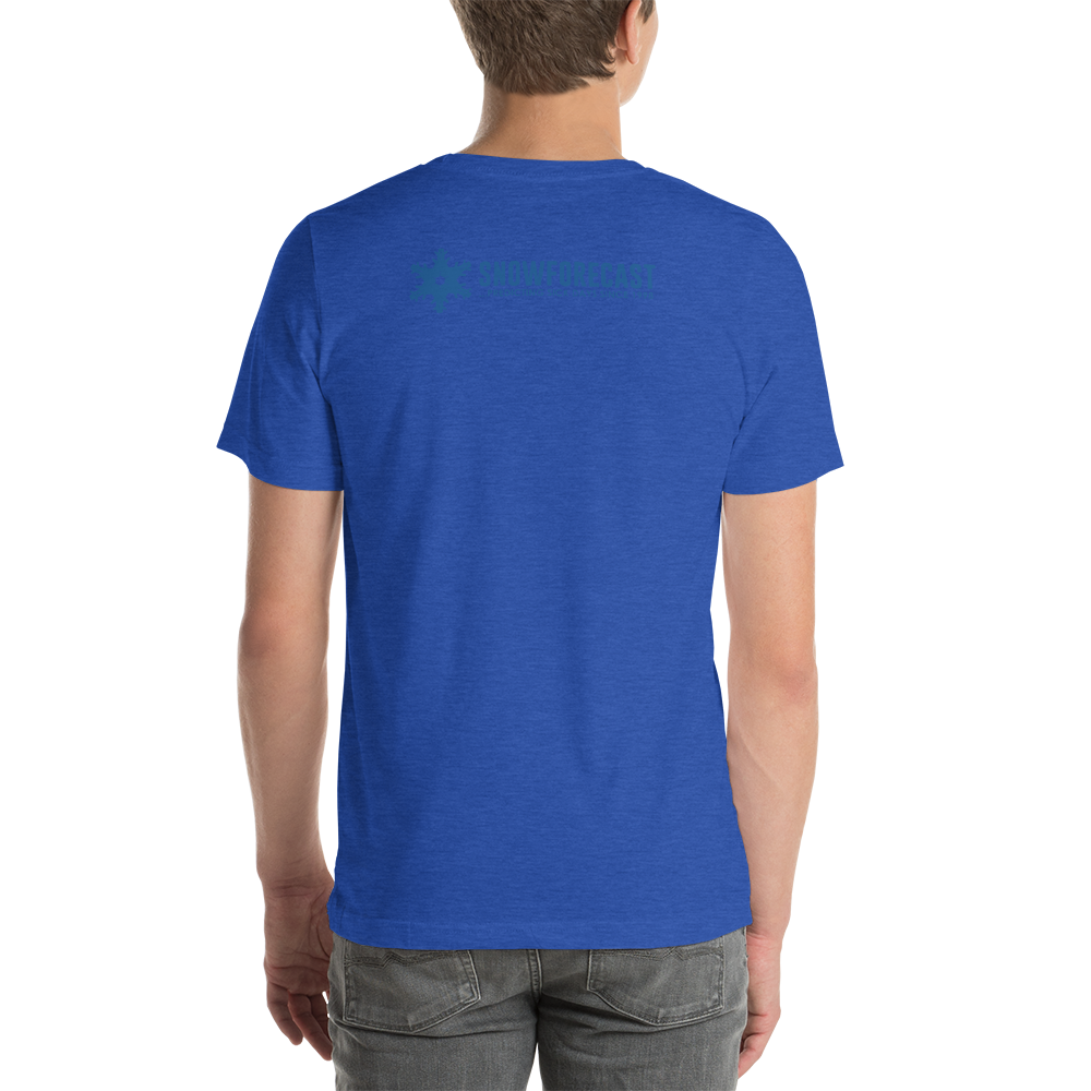 'It's Got What Skiers Crave' Front & Back Color Print T-Shirt