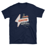"Basic ""It's Got What Skiers Crave"" Front Plain Print T-Shirt"