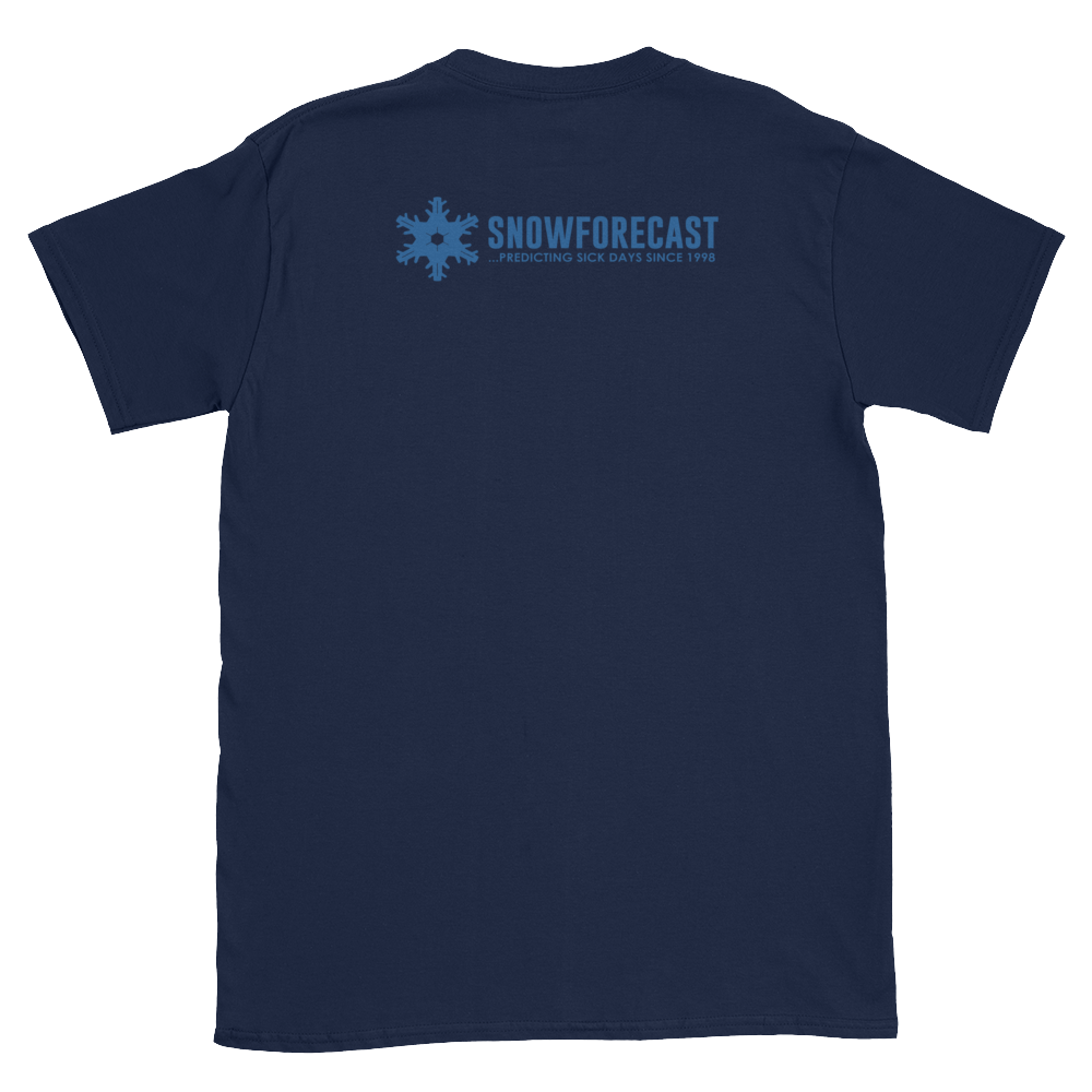 Basic 'Snowboarders' Front & Back Color Print T-Shirt