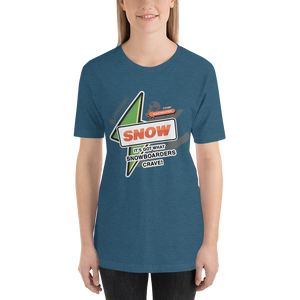 'It's Got What Snowboarders Crave' Front & Back Color Print T-Shirt