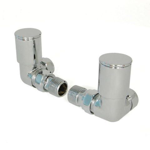 Milan Corner Radiator Valves - Chrome