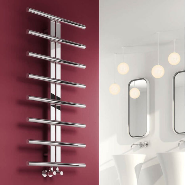 Reina Pizzo Stainless Steel Designer Radiators | 1000mm X 600mm Towel Radiator