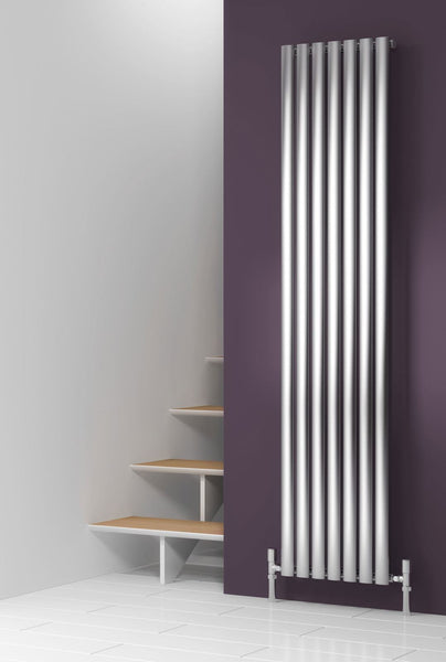 Reina Nerox Brushed Stainless Steel Designer Radiators | Vertical Radiator