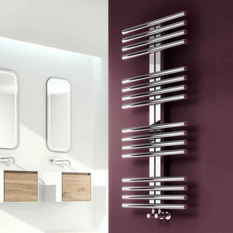 Reina Sorento Polished Stainless Steel Designer Radiator | Towel Radiators