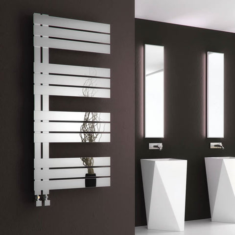 Reina Ricadi Designer Radiators | Polished Stainless Steel Towel Radiator