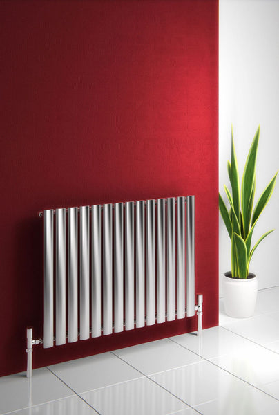 Reina Nerox Brushed Stainless Steel Designer Radiators | Horizontal Radiator