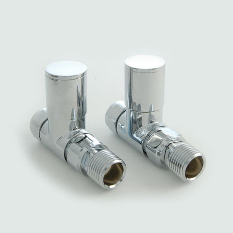 Milan Straight Radiator Valves - Chrome