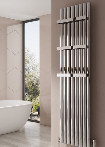 Reina Neval Aluminium Designer Radiator- Vertical Polished Radiators