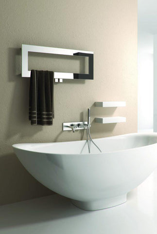 Reina Bivano Stainless Steel Designer Radiators | 300mm X 800mm Towel Radiator