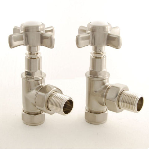 Westminster Cross-Head Traditional Radiator Valves - Straight Chrome
