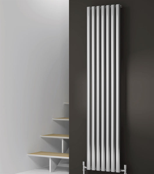 Reina Neva Chrome Designer Radiator - Vertical Designer Radiators
