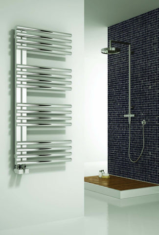 Reina Adora Designer Radiators | Polished Stainless Steel Towel Radiator
