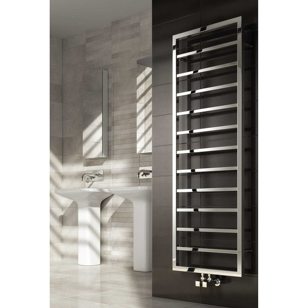 Reina Egna Polished Stainless Steel Designer Radiator | Towel Radiators
