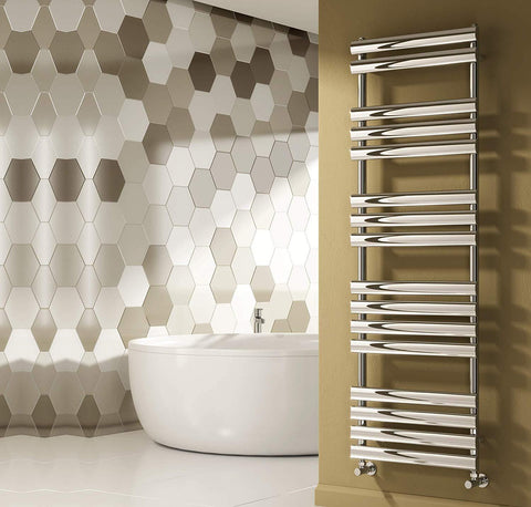 Reina Arbori Designer Radiator - Chrome, Anthracite & White Towel Radiators