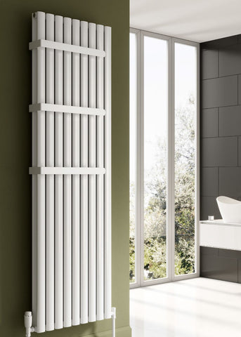 Reina Neval Aluminium Designer Radiator- Vertical White Radiators