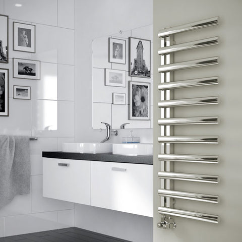 Sidato Salita Brushed or Polished Stainless Steel Designer Radiator
