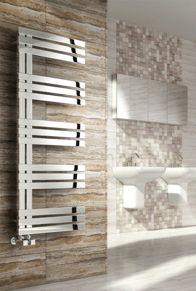 Reina Lovere Designer Radiators in Polished Stainless Steel| Towel Radiator