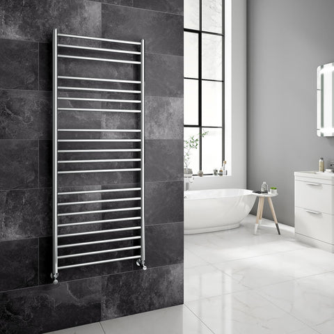 Reina Luna Polished Stainless Steel Towel Radiators | Designer Radiator