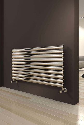 Reina Artena Polished Stainless Steel Designer Radiators | Horizontal Radiator