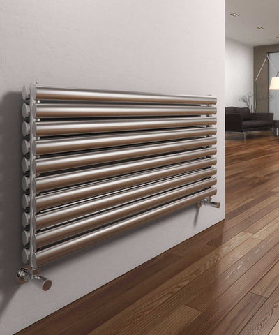 Reina Artena Brushed Stainless Steel Designer Radiators | Horizontal Radiator