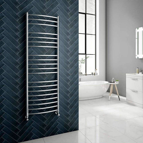 Reina Eos Polished Stainless Steel Towel Radiators | Designer Radiator